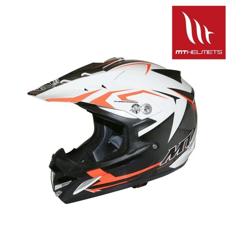 casque cross enfant mt helmet mx2 noir blanc orange. Black Bedroom Furniture Sets. Home Design Ideas