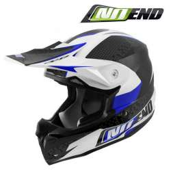 CASQUE CROSS NOEND DEFCON BY OCD BLEU/BLANC WHITE/BLUE TX696 SCOOTER QUAD