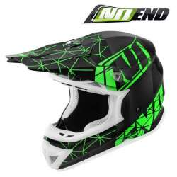 CASQUE CROSS NOEND ORIGAMI NOIR/VERT BLACK/GREEN SC15 SCOOTER QUAD