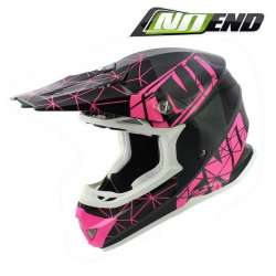 CASQUE CROSS NOEND ORIGAMI GLOSSY PINK NOIR/ROSE SC15 SCOOTER QUAD