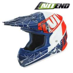 CASQUE CROSS NOEND ORIGAMI PATRIOT BLEU/BLANC/ROUGE SC15 SCOOTER QUAD