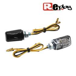 2 CLIGNOTANTS REPLAY MICRO UNIVERSEL TRANSPARENT/NOIR 6 LEDS MAXISCOOTER