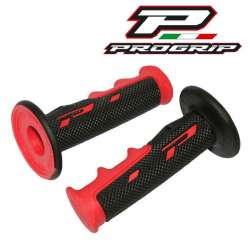 2 REVETEMENTS POIGNÉE PROGRIP 797 NOIR/ROUGE SCOOTER MOTO CROSS ENDURO