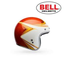 CASQUE MOTO BELL CUSTOM 500 COPPERHEAD VINTAGE ORANGE/BLANC TAILLE XS AU XXL