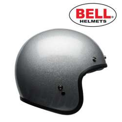 CASQUE MOTO BELL CUSTOM 500 GLOSS SILVER FLAKE VINTAGE ARGENT TAILLE XS AU XXL