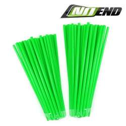 COUVRE RAYONS NOEND VERT FLUO 76 PIECES JANTE ROUE MOTO CROSS ENDURO MECABOITE