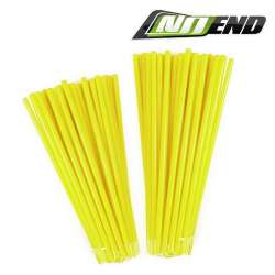 COUVRE RAYONS NOEND JAUNE FLUO 76 PIECES JANTE ROUE MOTO CROSS ENDURO MECABOITE