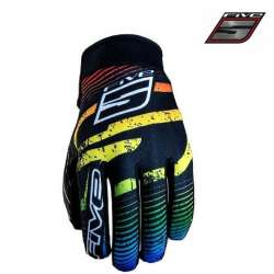 Gants FIVE Planet Fashion multicolore moto cross vélo VTT