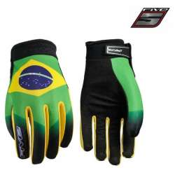 Gants FIVE Planet Patriot Bresil moto cross vélo VTT