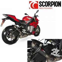 SILENCIEUX POT ECHAPPEMENT SCORPION RP1-GP CARBONE MOTO BMW S1000R 2014-2016