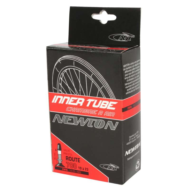 Chambre a air velo route newton 700 x 19 23 valve presta for Chambre a air pour velo