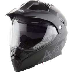 CASQUE MOTO CROSS ENDURO ADULTE MTR SX-1 DOUBLE VISIERE NOIR MAT