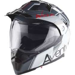 CASQUE MOTO CROSS ENDURO ADULTE MTR SX-1 DOUBLE VISIERE BLANC ANTHRACITE ROUGE