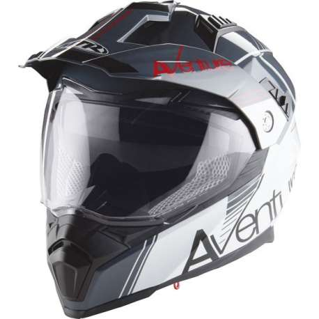 casque moto cross enduro adulte mtr sx 1 double visiere blanc anthracite rouge vospieces2roues. Black Bedroom Furniture Sets. Home Design Ideas