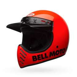 CASQUE MOTO CROSS BELL MOTO-3 CLASSIC ORANGE