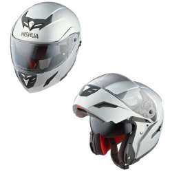 CASQUE INTEGRAL MODULABLE MOTO SCOOTER NISHUA NFX-2 GRIS METALISÉ