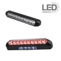 FEU ARRIERE A LED TRANSPARENT 23 x 130 x 26 mm UNIVERSEL MOTO SCOOTER QUAD