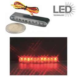 FEU ARRIERE A LED TRANSPARENT 8 x 53 x 15 mm UNIVERSEL MOTO SCOOTER QUAD