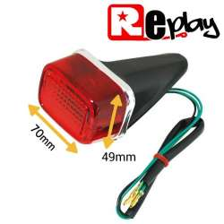 FEU ARRIERE ROUGE 70 x 49 mm 12V 21/5 WATTS UNIVERSEL MOTO SCOOTER QUAD LOOK XT