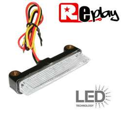 FEU ARRIERE 6 LED 12V 1W / 0,2W TRANSPARENT 31 x 78 x 16 mm MOTO SCOOTER QUAD