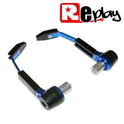 PROTECTION LEVIER MAXISCOOTER MOTO REPLAY RR ALU NOIR/BLEU GUIDON 13 ET 17MM