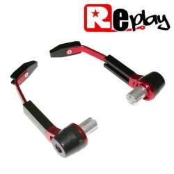 PROTECTION LEVIER MAXISCOOTER MOTO REPLAY RR ALU NOIR/ROUGE GUIDON 13 ET 17MM