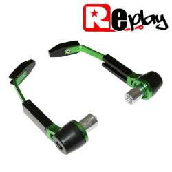 PROTECTION LEVIER MAXISCOOTER MOTO REPLAY RR ALU NOIR/VERT GUIDON 13 ET 17MM