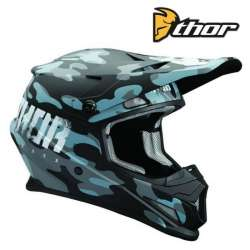 CASQUE MOTO CROSS THOR SECTOR COVERT MIDNIGHT BLEU/NOIR FINITION MAT