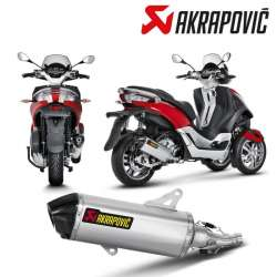 SILENCIEUX AKRAPOVIC INOX MAXI SCOOTER PIAGGIO MP3 YOURBAN 300/300 LT 2011-2016