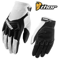 GANTS MOTO CROSS THOR SPECTRUM BLANC / NOIR