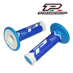 2 REVETEMENTS POIGNEE PROGRIP 788 NEW BLANC/BLEU/BLEU CLAIR MOTO CROSS MX ENDURO