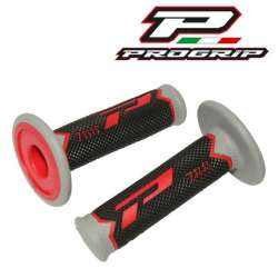 2 REVETEMENTS POIGNEE PROGRIP 788 ROUGE/NOIR/GRIS 115MM MOTO CROSS MX ENDURO
