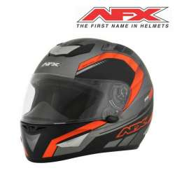 CASQUE MOTO INTEGRAL AFX AIRSTRIKE FX95 GRIS ORANGE MAT