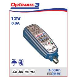 CHARGEUR TESTEUR MAINTENANCE BATTERIE 12V 3 a 50 Ah AUTOMATIQUE OPTIMATE 3 TM430