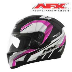 CASQUE MOTO INTEGRAL AFX AIRSTRIKE FX95 NOIR ROSE FINITION BRILLANT