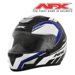 CASQUE MOTO INTEGRAL AFX AIRSTRIKE FX95 NOIR BLEU FINITION BRILLANT