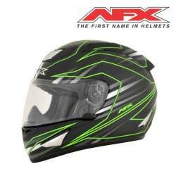 CASQUE MOTO INTEGRAL AFX FX95 MAINLINE NOIR VERT FINITION BRILLANT