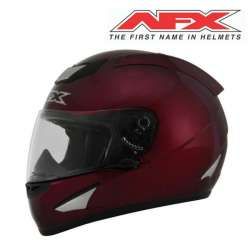 CASQUE MOTO INTEGRAL AFX FX95 SOLID ROUGE FINITION BRILLANT