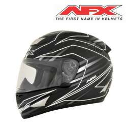 CASQUE MOTO INTEGRAL AFX FX95 MAINLINE BLANC NOIR FINITION BRILLANT