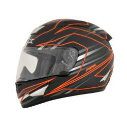 CASQUE MOTO INTEGRAL AFX FX95 MAINLINE NOIR ORANGE FINITION BRILLANT
