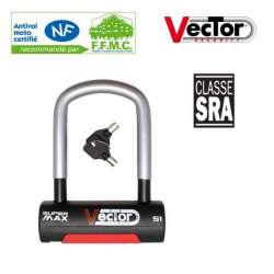 ANTIVOL U VECTOR SUPER MAX S1 88X120 MM HOMOLOGUE SRA CERTIFIE NF MOTO SCOOTER