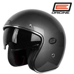 CASQUE MOTO JET ORIGINE SIRIO GRIS METAL BRILLANT