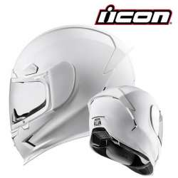 CASQUE INTEGRAL MOTO ICON AIRFRAME PRO GLOSS BLANC WHITE BRILLANT