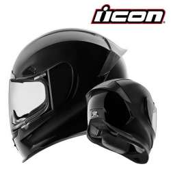 CASQUE INTEGRAL MOTO ICON AIRFRAME PRO GLOSS NOIR BLACK BRILLANT