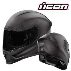 CASQUE INTEGRAL MOTO ICON AIRFRAME PRO GHOST CARBON NOIR MAT