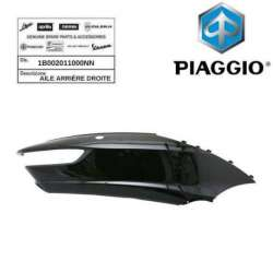 AILE ARRIERE DROITE NOIR 91/B ORIGINE PIAGGIO 1B002011000NN MP3 300 BUSINESS 14-