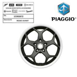 ROUE JANTE AVANT ORIGINE PIAGGIO MP3 300 2014 - 1C002672 VERSION SPORT