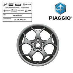 ROUE JANTE AVANT ORIGINE PIAGGIO MP3 300 2014 - 1C002667 BUSINESS