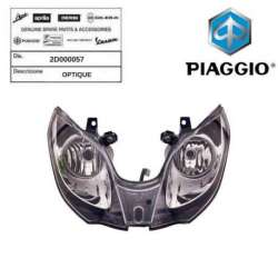 OPTIQUE FEU ORIGINE PIAGGIO 2D000057 MP3 300 BUSINESS 2014 -
