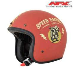 CASQUE JET MOTO AFX FX76 SPEED RACER VINTAGE ROUILLE/OR MAT